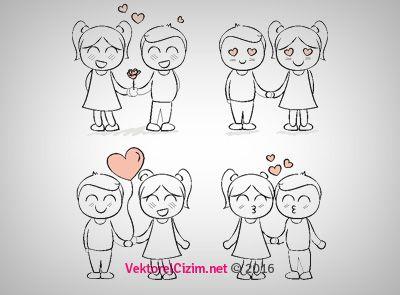 Vektörel Çizim | 14 Şubat Sevgililer Günü, Aşk
