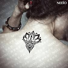 henna style water lily tattoo
