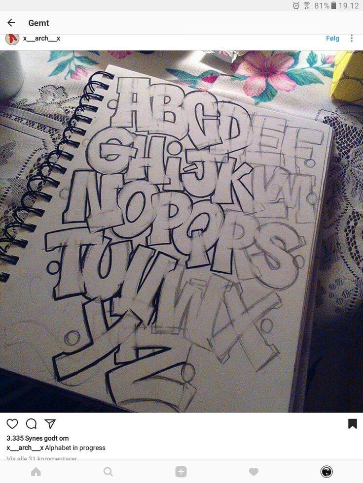 De 25+ bedste idéer inden for Graffiti lettering på ...