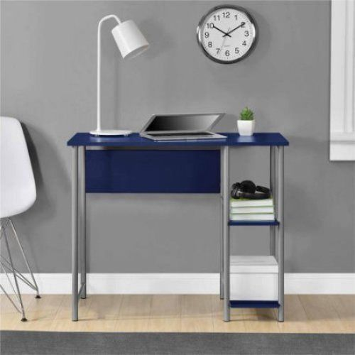 navy small computer desk compact space saver kids workstation table home office - Small Computer Desks