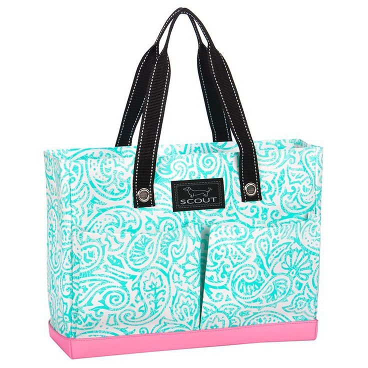 """This SCOUT Tote has four exterior pockets & a zipper top. Material: All-Weather Woven Dimensions: H 12"""" x D 5.5"""" x W 16"""" *Monogram Ready for Heat Press Vinyl Monogram colors are usually picked to cont"""