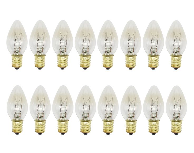 Rolay 15W Himalayan Salt Lamp Bulbs for Scentsy Plug-In Night Light Warmer Wax Diffuser E12 Socket, 16 Pack