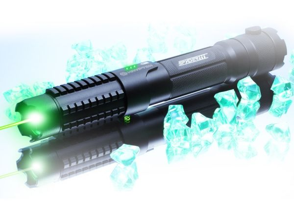 S3 Krypton Laser. 8000 times brighter than the sun. Effective range of 85 miles.