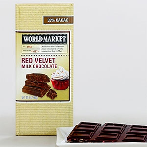 World Market Red Velvet Milk Chocolate Bar..
