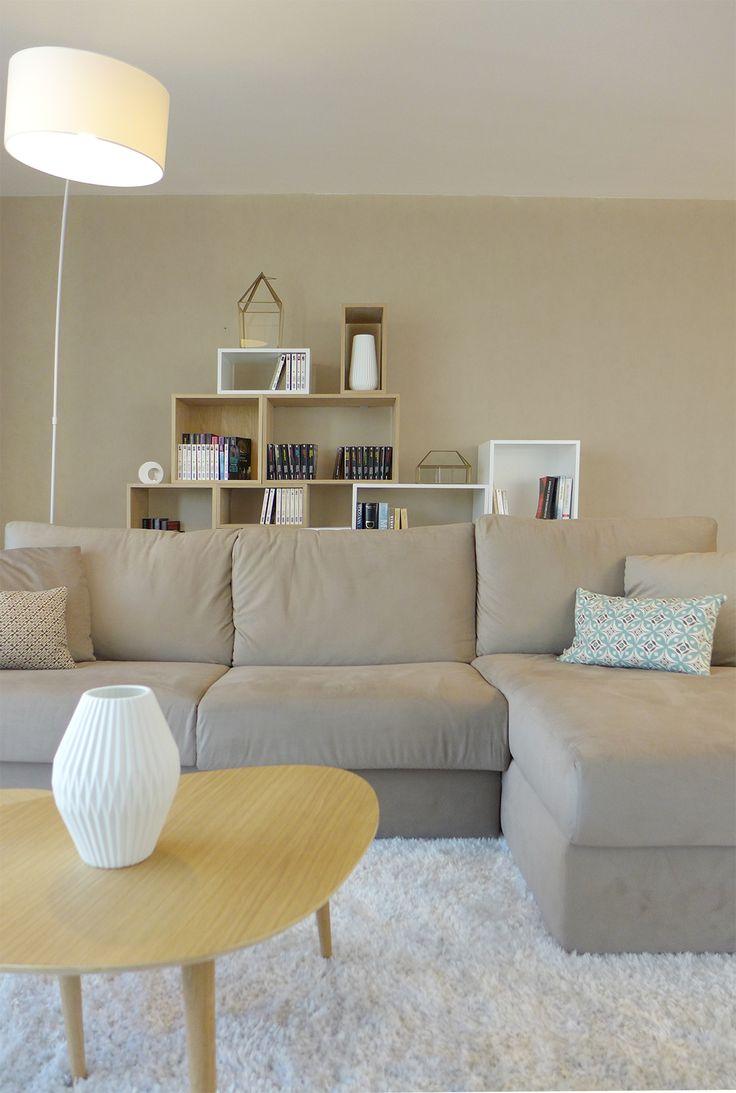 Taupe sur Pinterest  Salon neutre, Divan modulaire beige et Salons