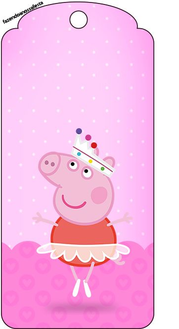 Tag Agradecimento Peppa Pig Bailarina: