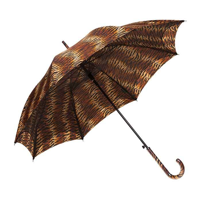 The Clifton Auto Open Parisienne Series Tiger has a unique twist to an ordinary Rain Umbrella. Featuring a matching handle and mesh lined canopy.
