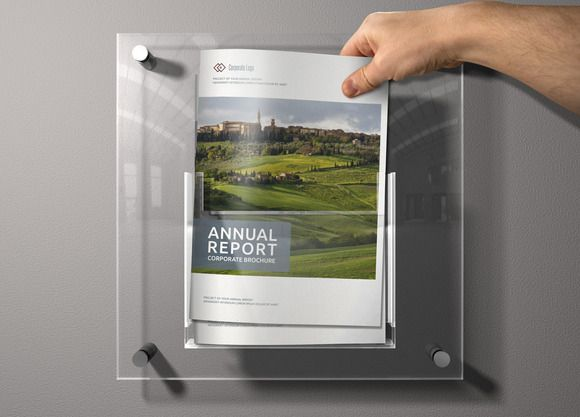 Check out Annual Report Sharp InDesign Templat by Creative Template on Creative Market