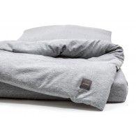 Parure de lit bébé   Melange Grey Jersey - LITERIE BEBE