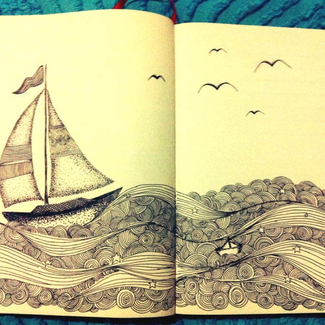 "Moleskine art ""Pana boat"" by Cris H."