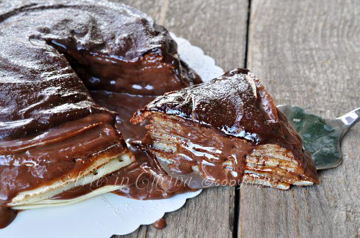 Torta di crepes alla nutella e mascarpone, merenda o colazione, feste di compleanno e buffet, torta con nutella, dolce facilissimo, dessert, idea dolce veloce