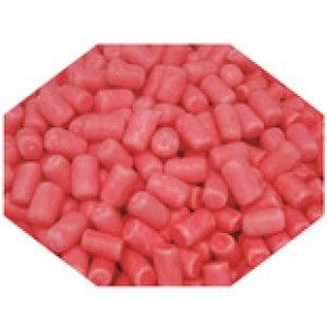 A bulk 1kg bag of pink candy coated marshmallows.