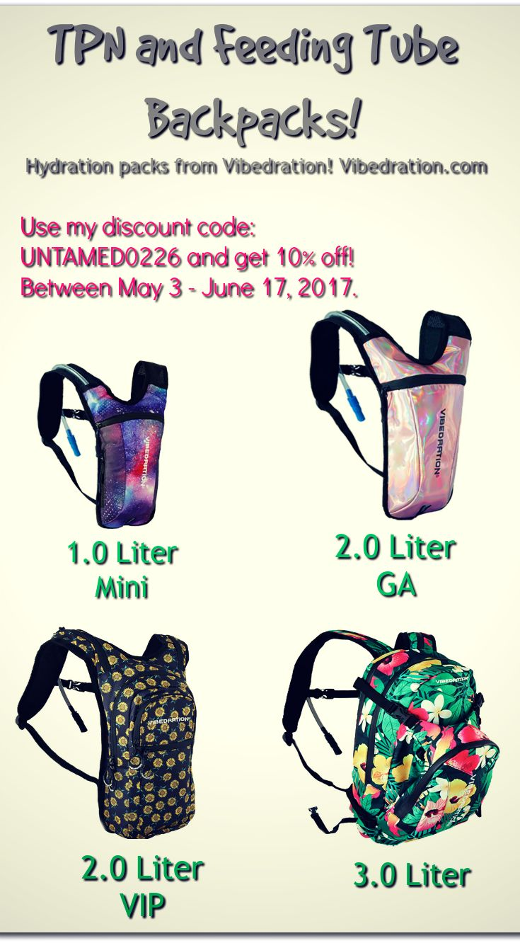 Receive 10% off a hydration pack you can use for TPN or tube feeding by visiting this page.