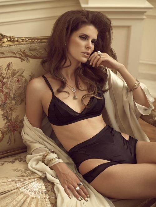 Marika Vera lingerie. black cut out sexy lingerie set.