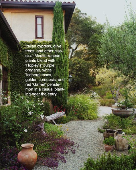 Sunset Article - Mediterranean Sun Gardens - loved this garden style and article from a few years back