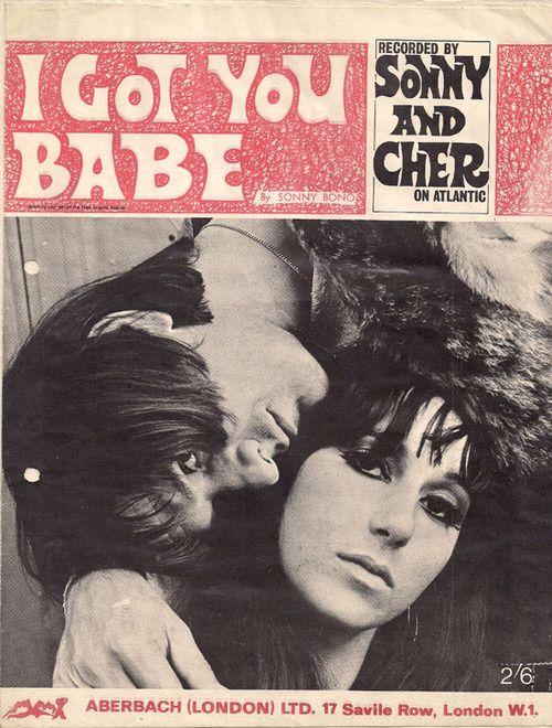 Sonny & Cher 'I Got You Babe' sheet music