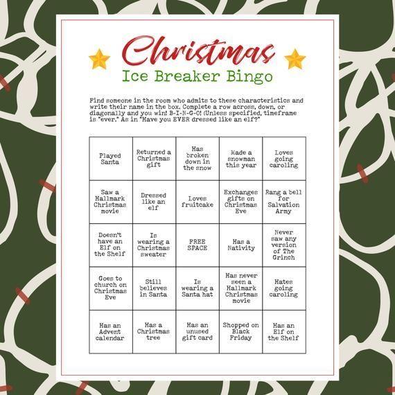 Christmas Human Bingo
