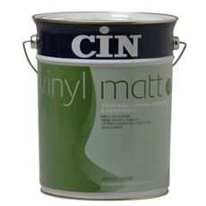 Vinyl Matt by CIN | High quality water based paint, available in a multitude of colours. A deep matt finish which masks small imperfections in walls. • Deep matt finish • Easy to apply • Excellent mould resistance • Óptimum opacity