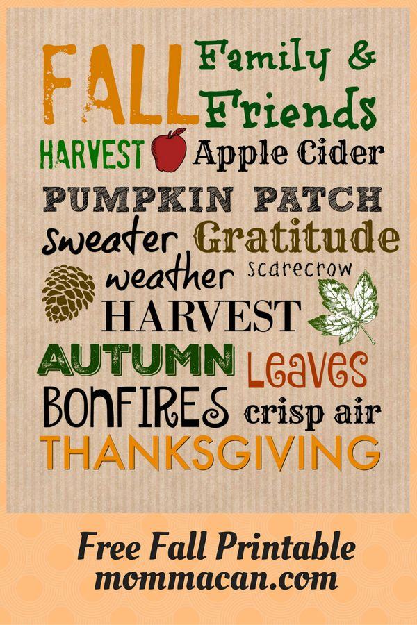 Free Fall Printable and an invitation to check back soon for our Fall Home…