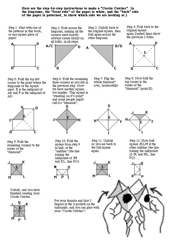 1000 images about cootie catchers on pinterest wedding ceremony programs drawing games and. Black Bedroom Furniture Sets. Home Design Ideas