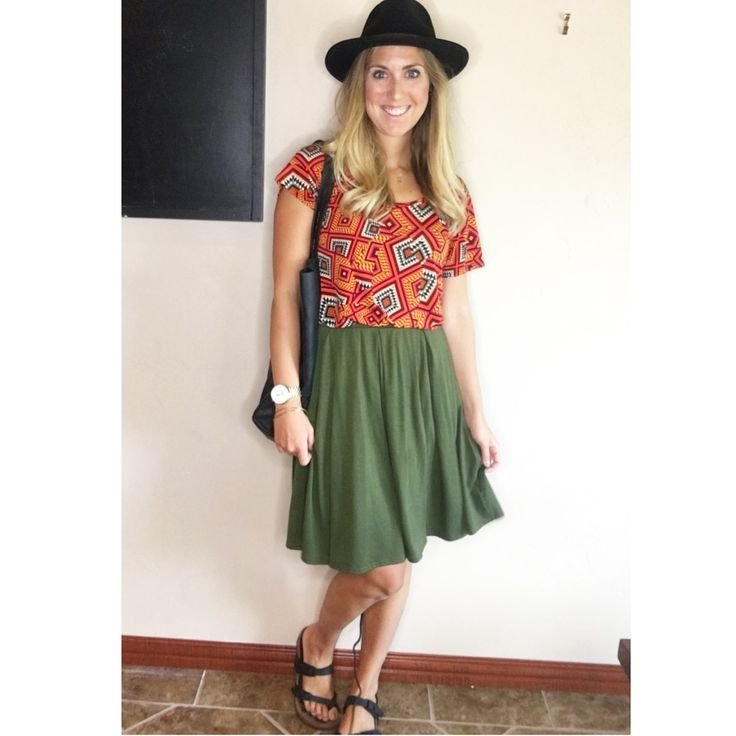 LuLaRoe Classic T + Madison skirt. Brixton hat ...