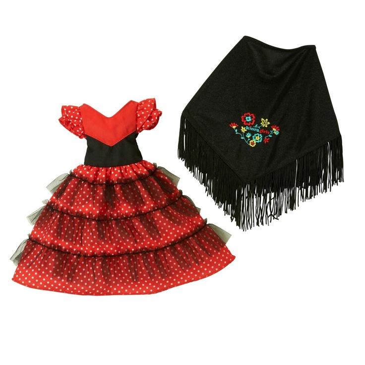 Corolle - Poupées et Livres,Robe de flamenco pour poupée Idalina