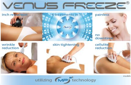 Venus Freeze is one of the best machines for skin tightening and body contouring. With NO downtime and pain who doesn't want to look great! Try the Venus Freeze Now. #bodycontouring #skintightening #faceneck #innerthighs #outerthighs #arms #muffintop
