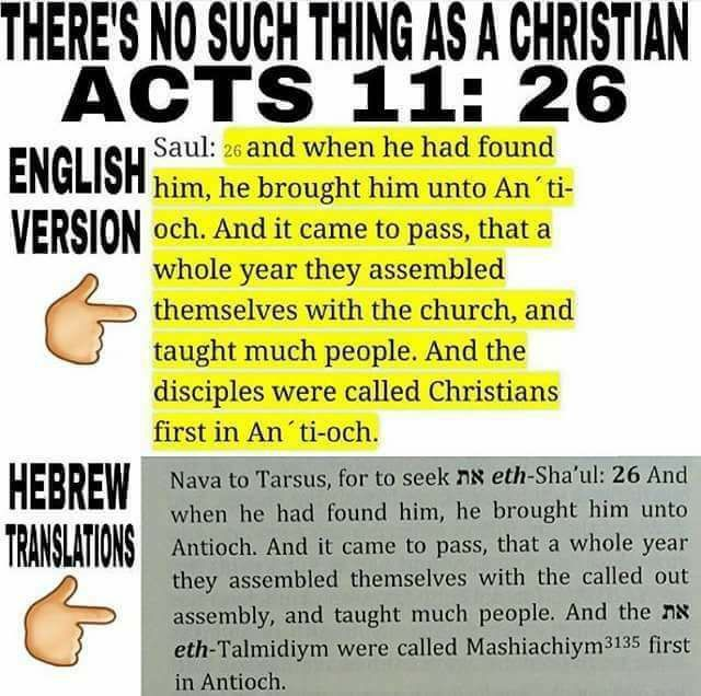 """The word Mashiaciym means """"Messianic"""", not Christian.Many bibles have transplanted this word with Christian, just like """"assembly"""" with """"church"""" in the..."""