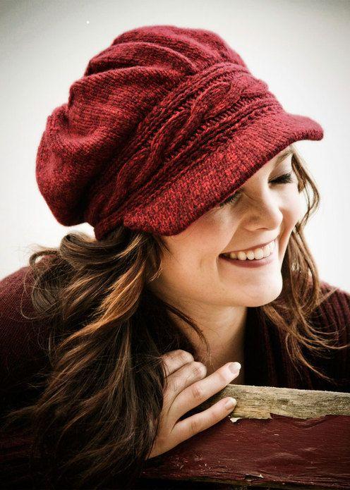 Newsboy Knit Hat Pattern Free