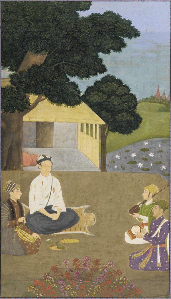 South Asian and Himalayan Art | Prince Dara Shikoh visiting the ascetic Kamal | early 18th century