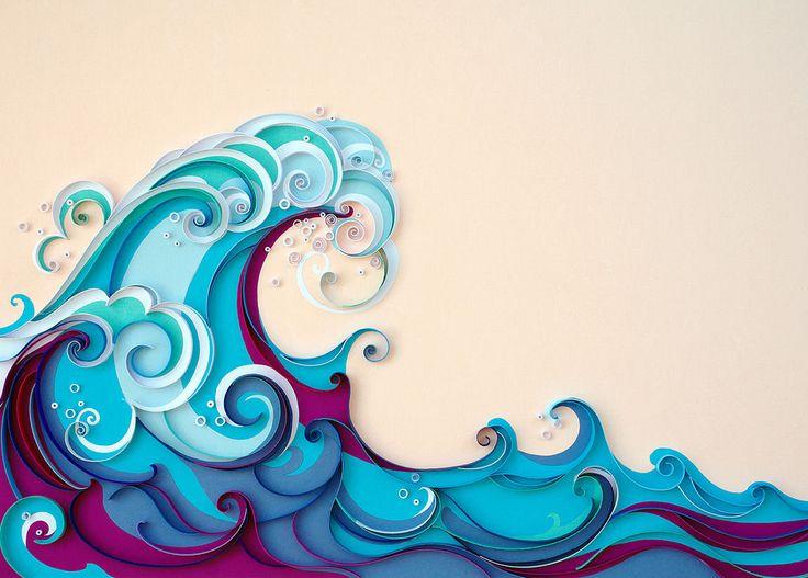 summer   paper wave art