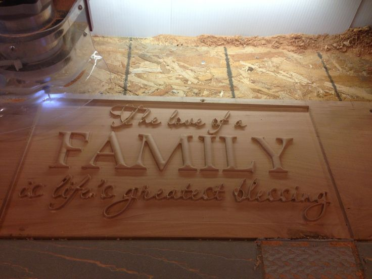 Wooden Sign Family Blessing 3d Cnc Engraved Routered