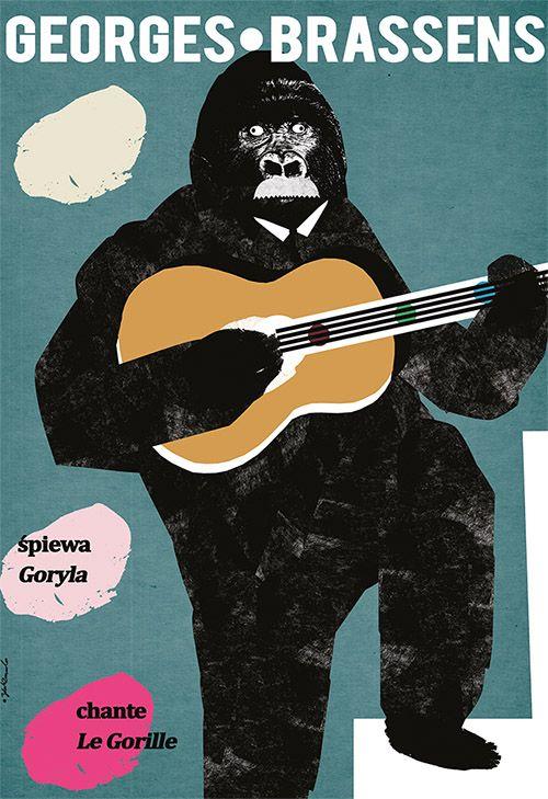 Georges Brassens chante Le Gorille, Polish Poster