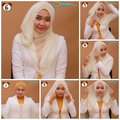 Tutorial Hijab Paris Untuk Kampus/Hijab Tutorial Square Scraft to Campus