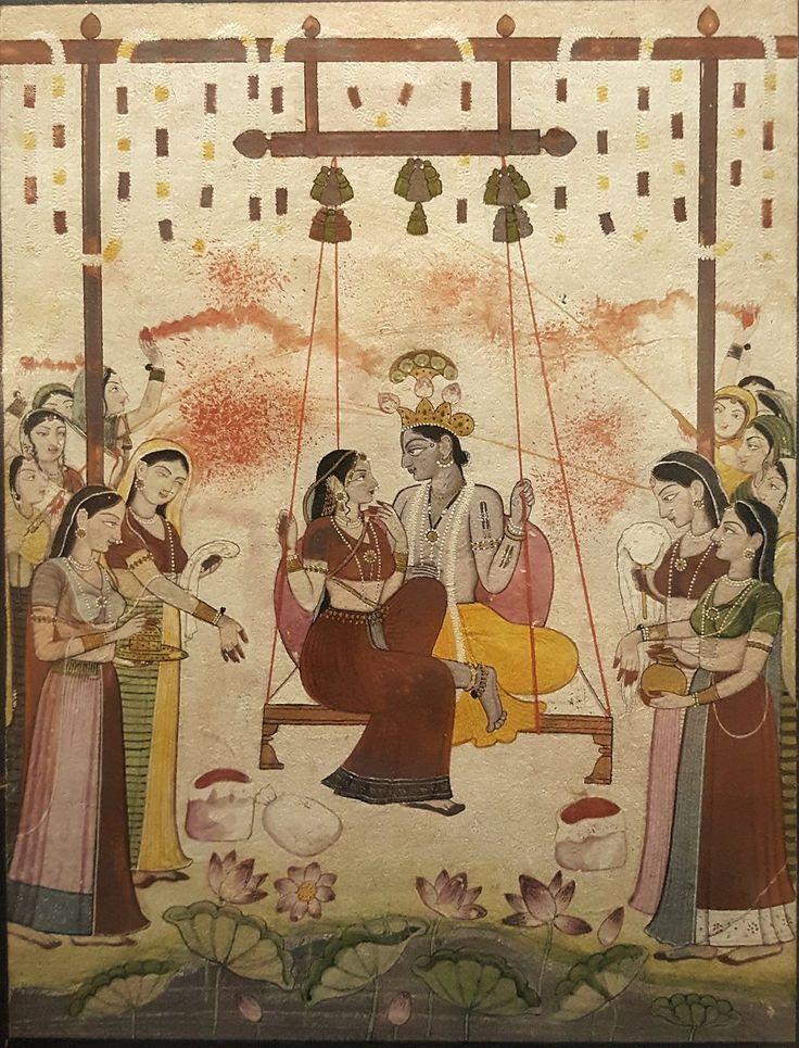 First Generation after Nainsukh. Radha and Krishna Play Holi. India, Guler, 1770
