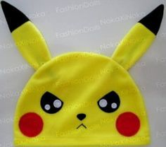 touca de anime * pikachu pokemon * frete + barato ! cosplay