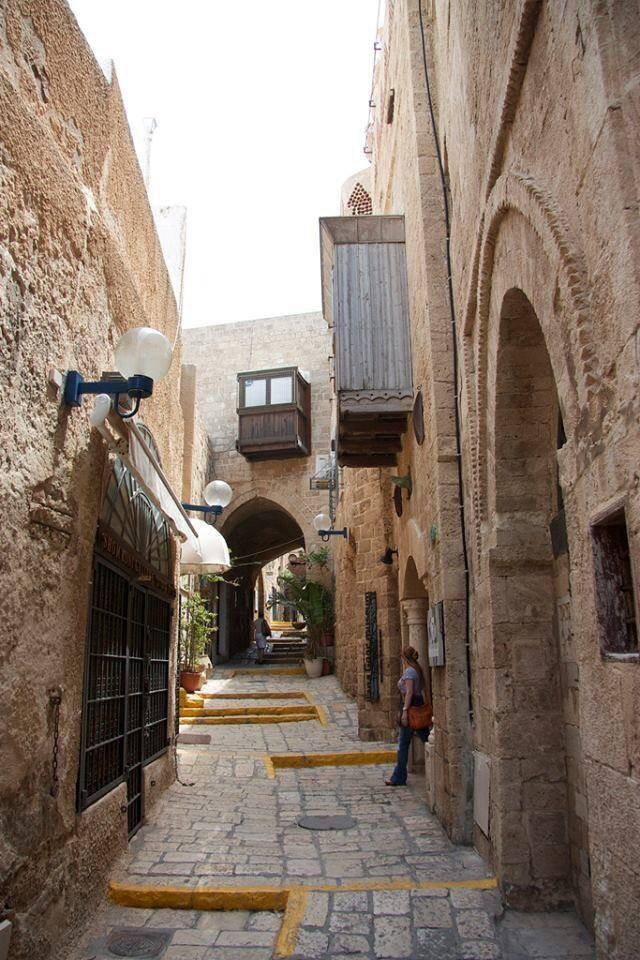 Old town alley in Hama, Syria.