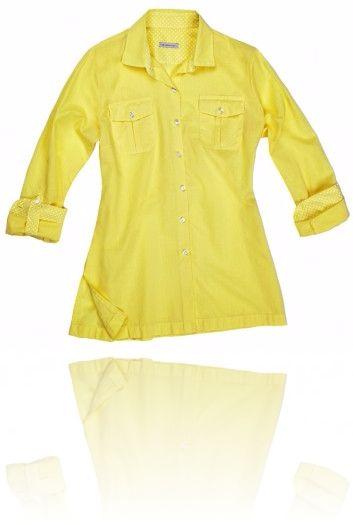 Camicia gialla tema estivo Seguici su #RedisRappresentanze www.redisrappresentanze.it