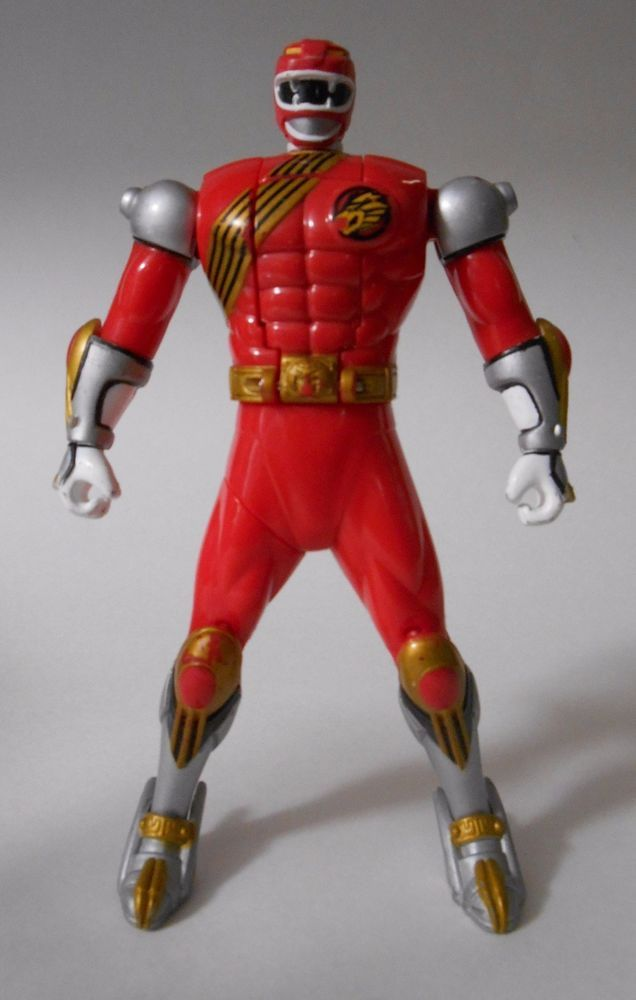 2002 Bandai Power Rangers Wild Force Red Ranger Spin-Morphin Figure 6in. Loose #Bandai