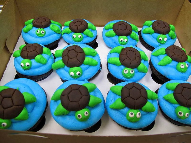 Turtle Cupcakes for Carly mohr