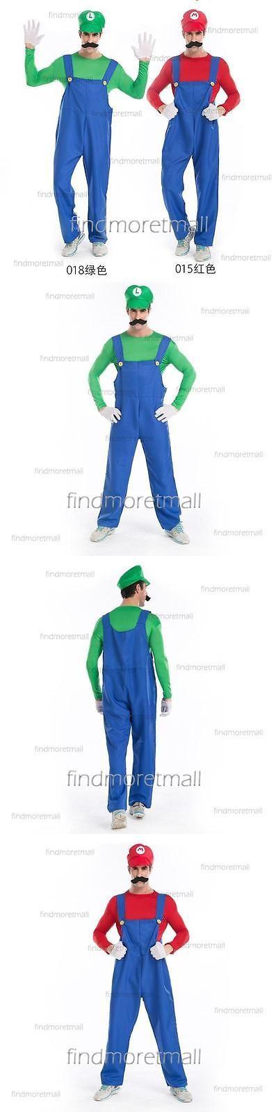 Halloween Costumes: Adult Mens Super Mario And Luigi Workmen Couples Halloween Fancy Xmas Costumes BUY IT NOW ONLY: $17.99