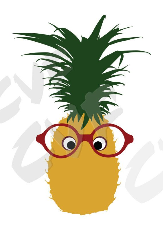 Vector ANANAS with glasses, AI, eps, pdf, png, svg, jpg Download files, Digital, graphical, discount coupons