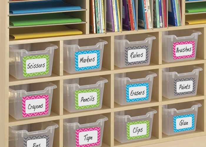 Get organized with these Chevron Name Tags/Labels - Multi-Pack ($4.99) #TeacherCreatedResources #ChevronClassroom