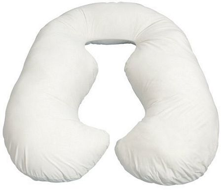Comfort U Back & Belly Pregnancy Body Pillow UK Free Delivery Free White Cover maternity pillows