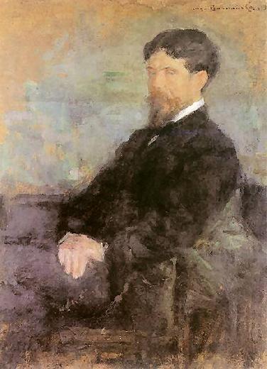 Olga Boznańska / Portret Stanisława Wyspiańskiego / oil on canvas / 1905 / Muzeum im. prof. S. Fischera w Bochni