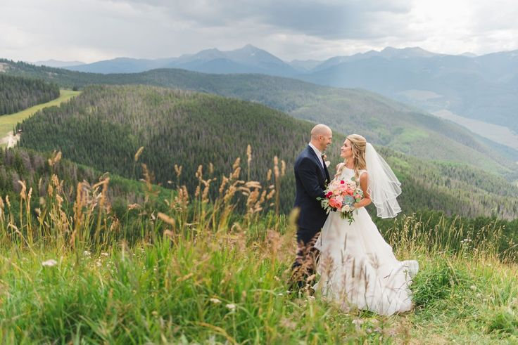 Flowers by Lace and Lilies, Vail Mountain wedding, summer colorful bouquet