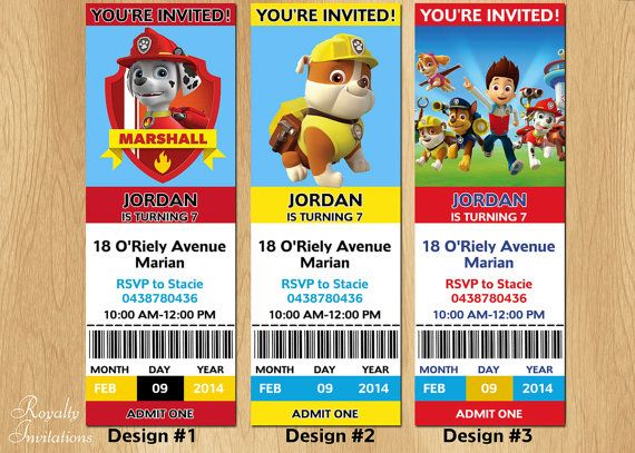 Paw Patrol Invitations Birthday By RoyaltyInvitations