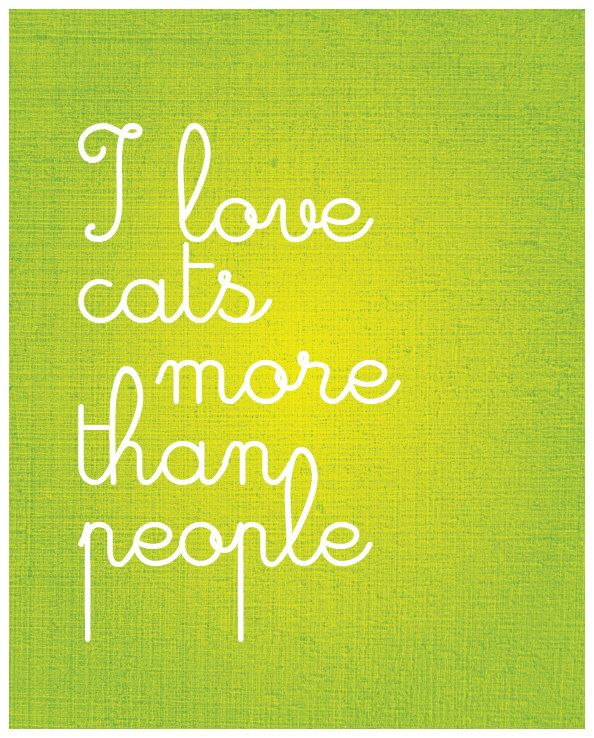 I Love Cats More Than People