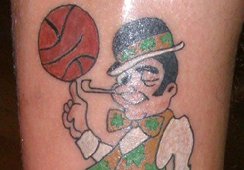 Boston celtic basketball tattoo designs on sleeve readmore for Laker tattoo designs