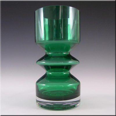 Riihimaki/Riihimaen Tamara Aladin Green Glass Vase 1472